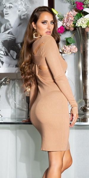 Sexy Strickkleid mit Twist-Detail am Rücken