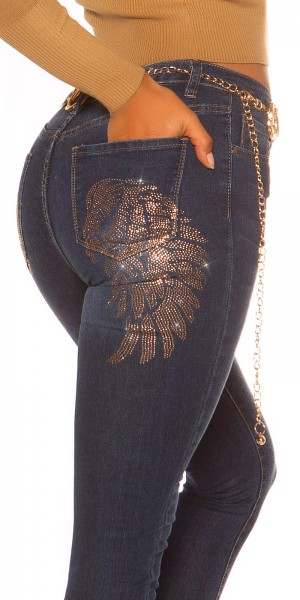 Sexy Skinny Jeans Angel Wings
