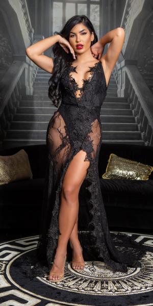 Soo Seductive! open back lace Red Carpet Dress