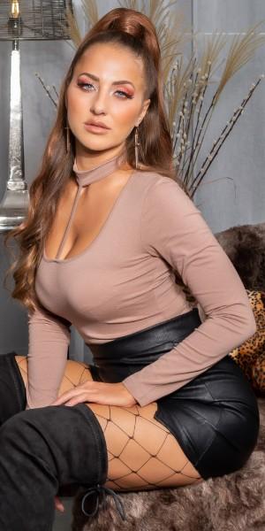Sexy KouCla Basic langarm Shirt