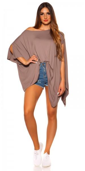 Trendy KouCla XXL-Shirt asymmetric