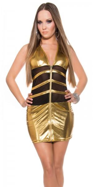 Sexy KouCla Neck-Minikleid mit Zipper