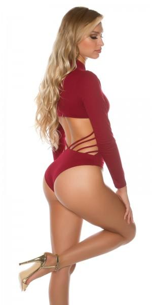 Sexy Koucla Neck Body mit WOW Rückenansicht