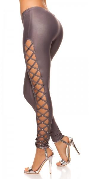 Sexy KouCla Leggings mit Nieten