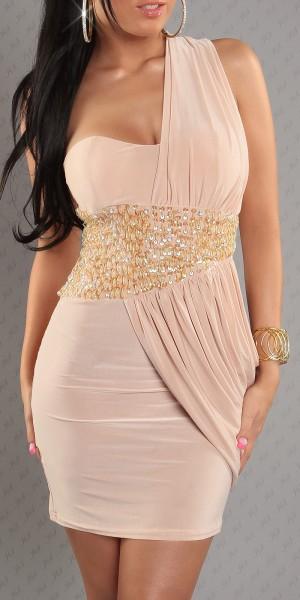 Sexy Goddess One-Shoulder Minikleid