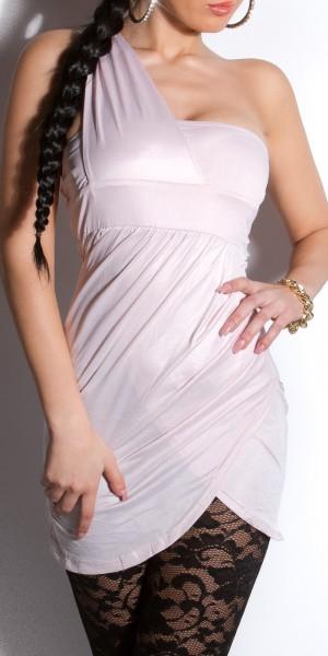Sexy Oneshoulder Minikleid mit Raffung
