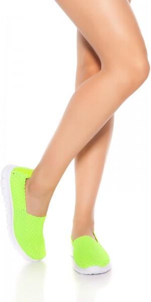 Trendy Slip-On Sneaker Flechtoptik