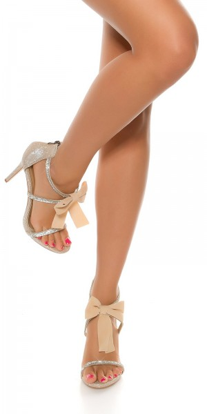 Sexy Sling High Heel mit Schleife