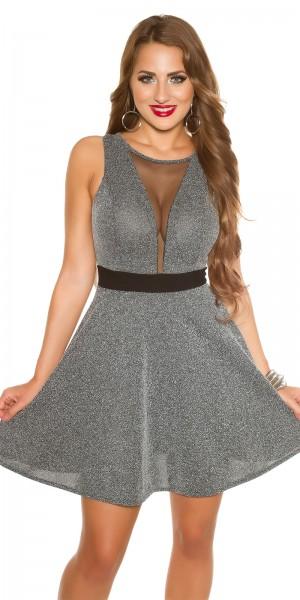 Sexy KouCla Kleid mit Mesh sexy Decollete