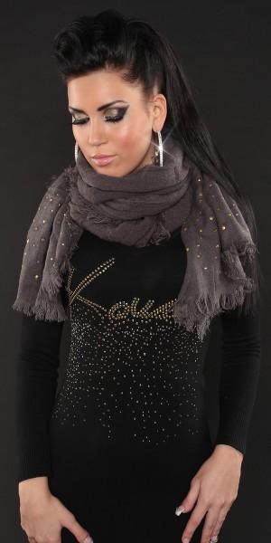 Sexy Feinstrick-Schal mit Nieten