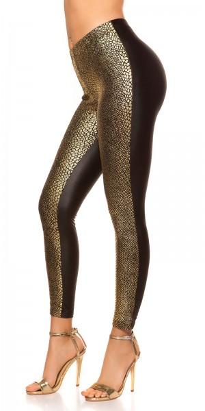 Sexy Leggings mit Snake-Print