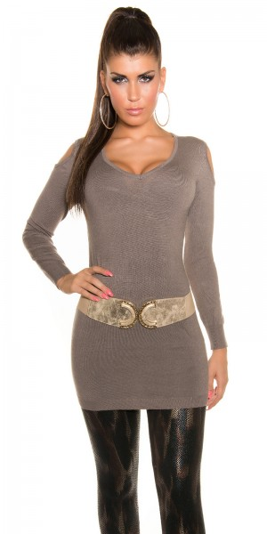 Sexy KouCla Longpulli mit shoulder cut outs