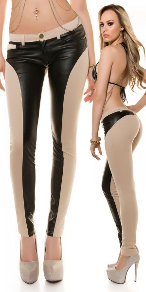 sooo Hot! Koucla LederLookHose PushUp Optik!