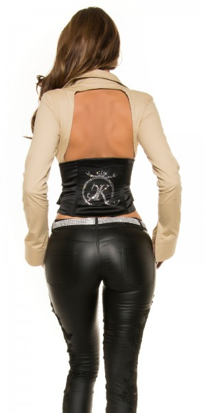 Sexy KouCla 2in1 Bluse Corsage WOW-Rückenansicht