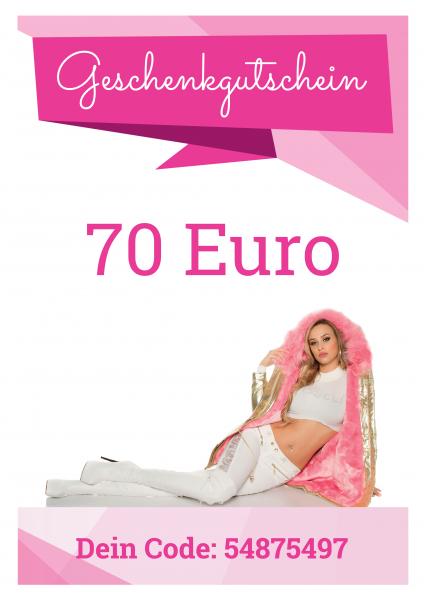 70 EUR Geschenkgutschein