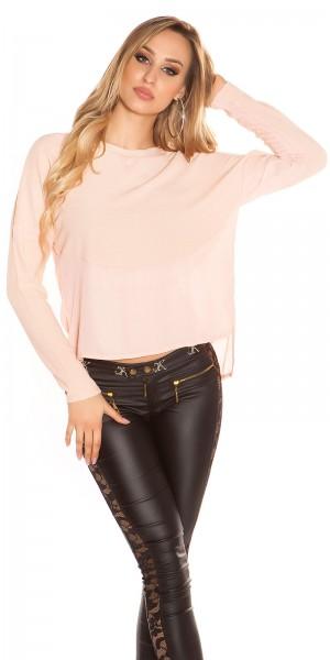 Stylish Highlow-Crinkle-Shirt