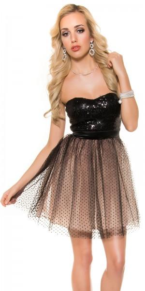 Sexy KouCla Party-Cocktail-Kleid mit Pailletten